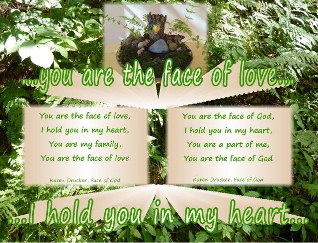face of love,  the face of God, the face of love song